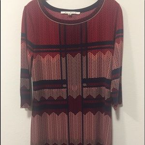 Max Studio Burgundy Dress for Fall-Size M